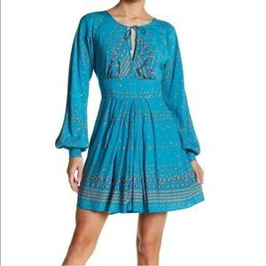 Free People Coryn Long Sleeve Mini Dress
